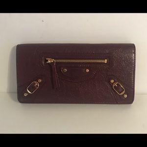 Balenciaga Continental Zip Around Lambskin wallet